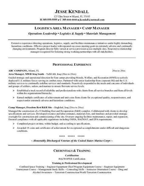 sle resume logistics operations manager 28 images