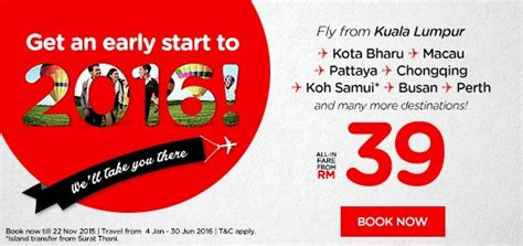airasia early check in airasia early start 2016 promotion airasia promotions