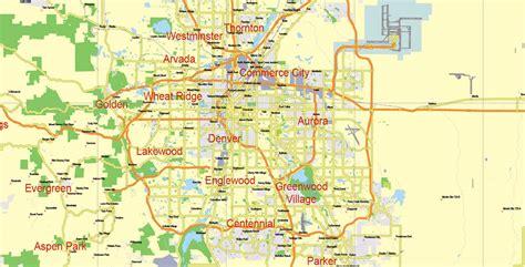 map of colorado vector map colorado state adobe illustrator printable detailed exact vector