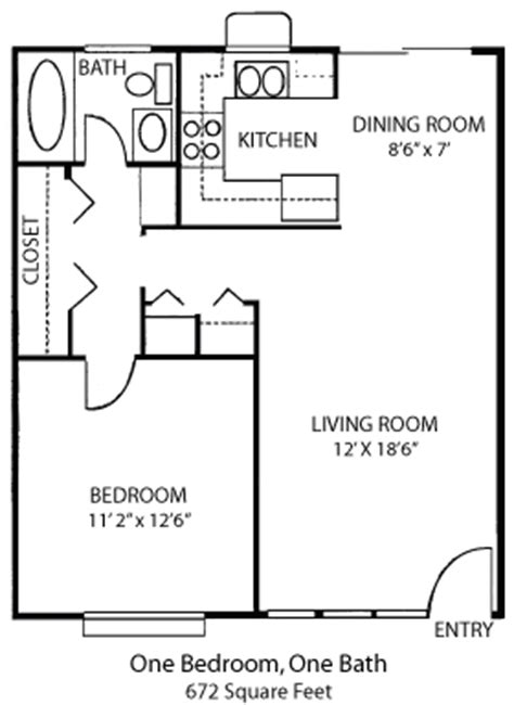 1 bedroom home floor plans one bedroom house plans home features floor plans one