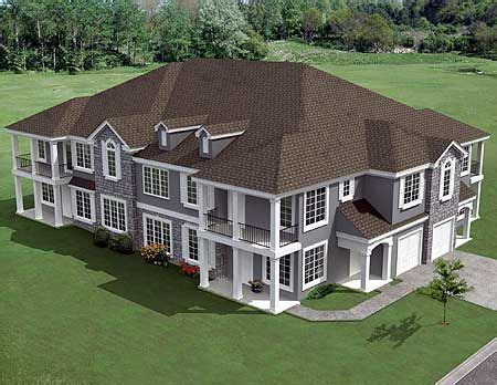cost to build multi family home plan 18511wb 8 unit house plan with corner decks