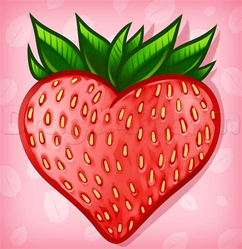 strawberry face shape how to draw a strawberry heart step by step tattoos pop