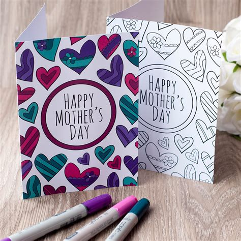 Clark Mothers Day Card Templates by Free S Day Coloring Card Clark