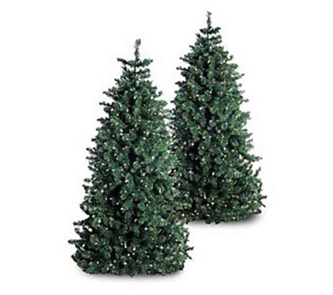 6 1 2 foot artificial pre lit christmas tree qvc com