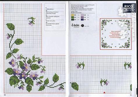 fiori da ricamare tovaglietta da ricamare con fiori violette 2 magiedifilo