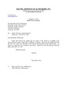 letter to clerk enc answer
