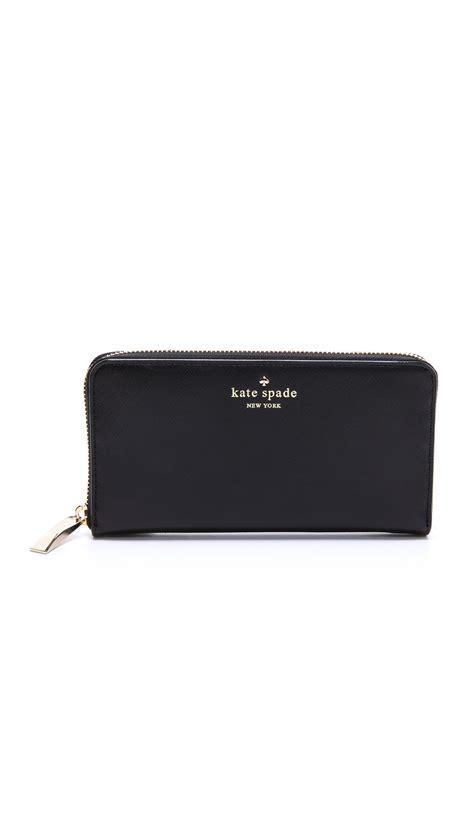 Katee Spadee 4in kate spade continental wallet in black lyst