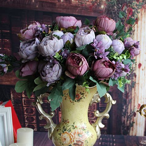 silk flower arrangements fake flower bouquets shop artificial peony silk floral flowers bridal hydrangea
