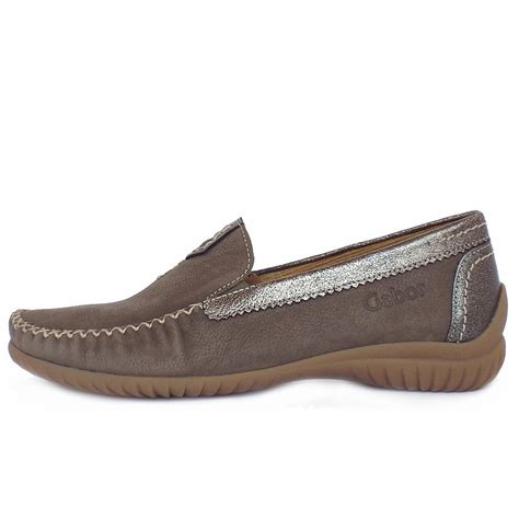 womens wide fit loafers gabor shoes california womens wide fit loafer in taupe