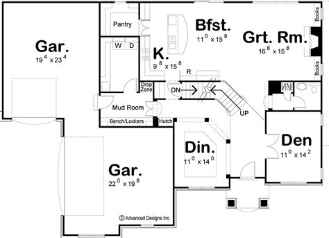 trapp and holbrook floor plans 1 5 story traditional house plan holbrook