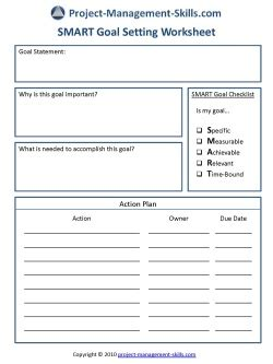 Smart Goal Setting Worksheet by Smart Goal Setting Worksheet Complete Guidance For
