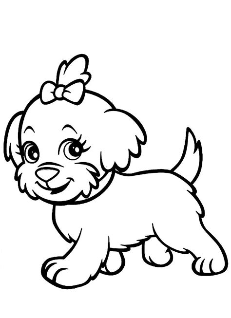 coloring pages puppies printables dog coloring pages for girls download