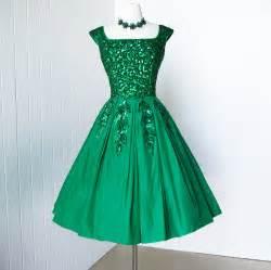 Vintage 1950 s dress gorgeous emma domb emerald by traven7