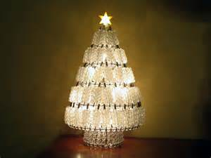 lighted bead christmas tree white lights