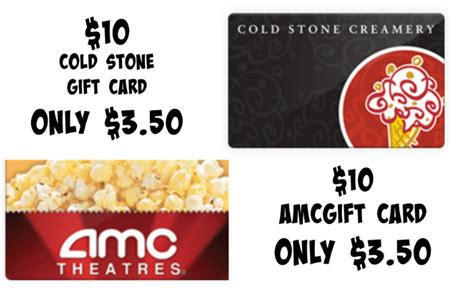 Cold Stone Gift Card Walmart - cold stone creamery 10 gift card only 3 34 3 50 amc theaters 10 gift card only