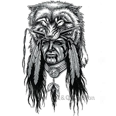 wolf indian tattoos designs 32 indian chief wolf tattoos