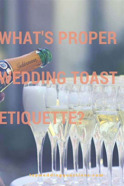 Q: What's Proper Wedding Toast Etiquette? #weddings #