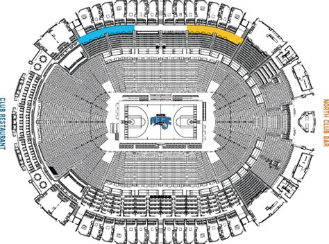 amway center seating chart mvp tables amway center