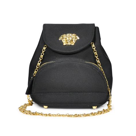 Versace Satin And Velvet Large Handbag by Second Versace Medusa Satin Bag The Fifth Collection
