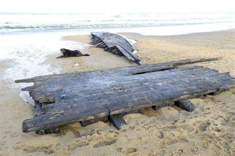 boat lettering in massachusetts remnants of centuries old shipwreck wash ashore at