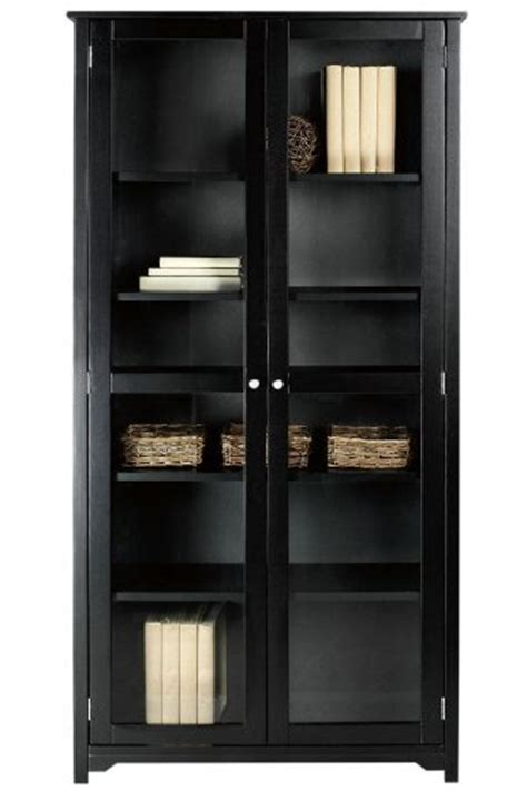 oxford 36 quot w 6 shelf bookcase with glass doors six shelf