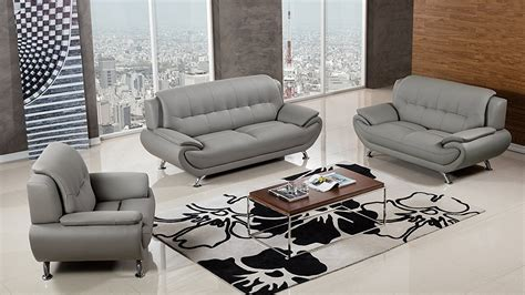 3 Sofa Living Room 3 Living Room Gray 3 Living Room Furniture Set Ingrid Furniture