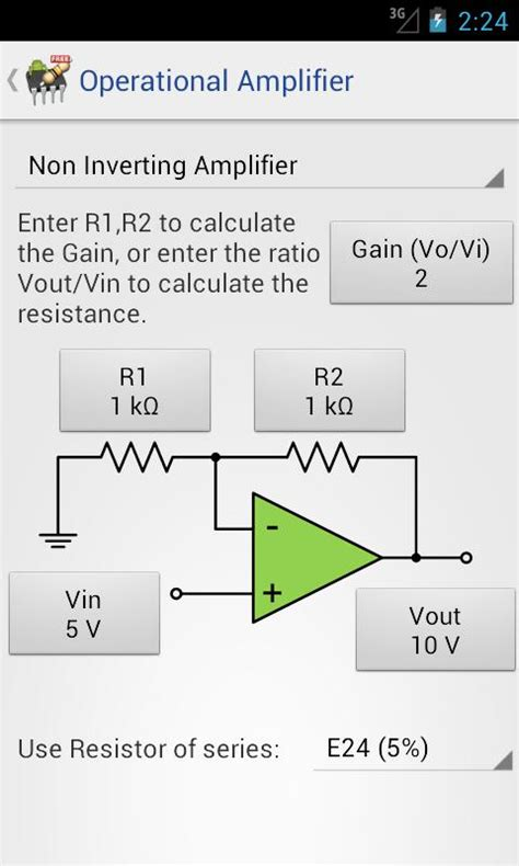 resistor calculator ratio electrodroid android apps on play