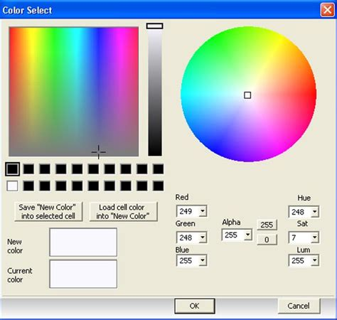 hsv color picker working with color selector