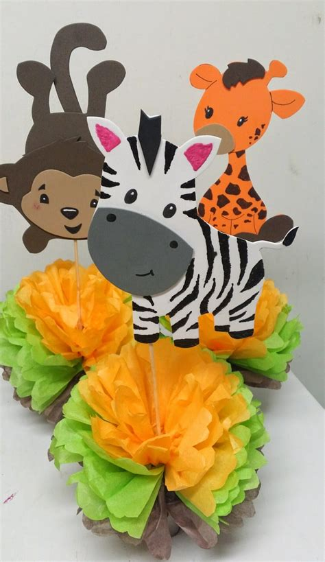 Safari Baby Shower Centerpieces by S Creations Baby Shower Theme Centerpieces