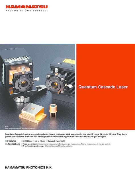 qcl laser diode qcl 4530nm to 7730nm from hamamatsu laser