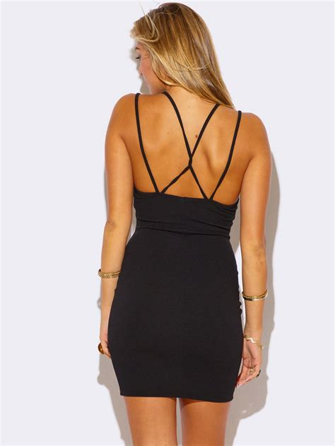 Dress Mini Dress Sabrina Dress Black Dress black v neck fitted mini dress modishonline