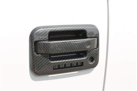 Padded Door Knob Covers by Paramount 04 14 Ford F 150 Supercrew Carbon Fiber Look Abs