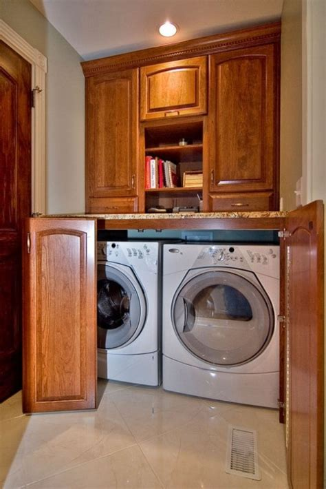 hide washer and dryer good way to hide the washer and dryer kitchen pinterest