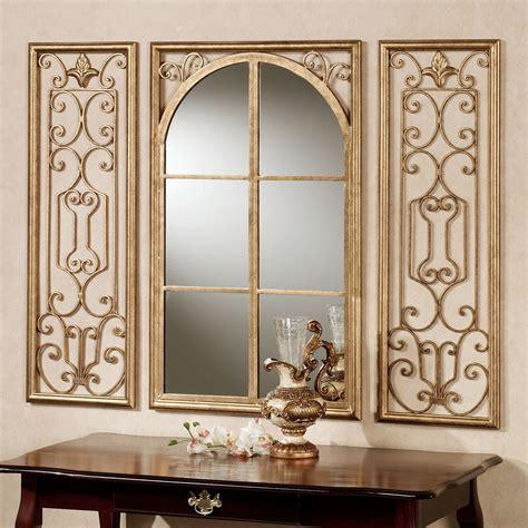 mirror wall provence bronze finish wall mirror set
