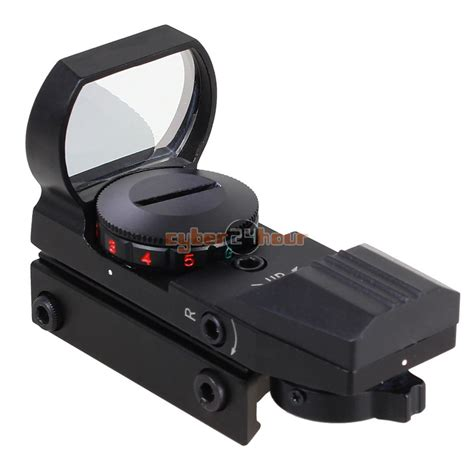 very100 new holographic 4 reticle green dot tactical reflex sight scope with 20mm rail mount