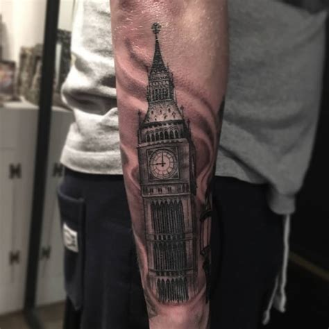 big ben tattoo awesome big ben on right sleeve by nickfarbeyond