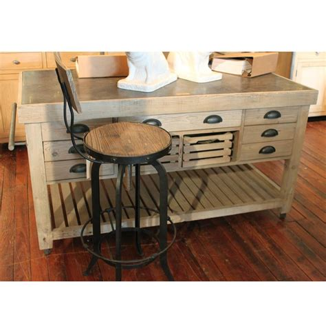 60 kitchen island belaney rustic lodge light pine wood blue stone 60 inch kitchen island kathy kuo home