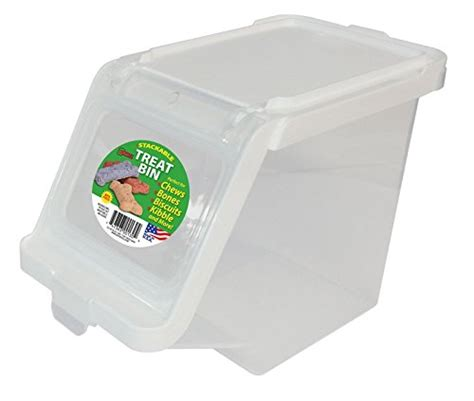 treat container treat container stackable in pet food storage