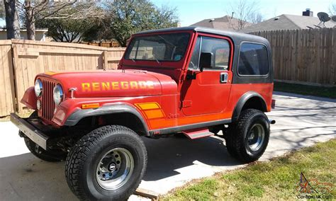 chevy jeep jeep cj7 renegade w chevy 350 conversion no reserve 1983