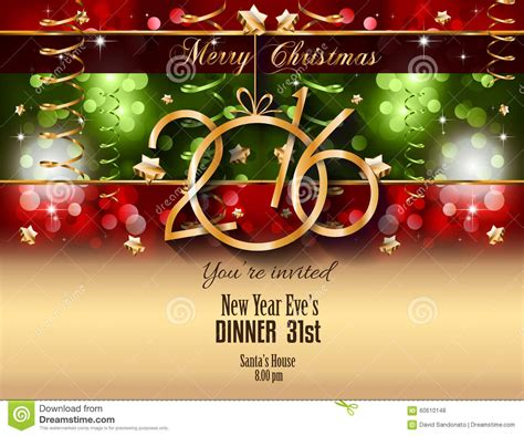 2016 and happy new year flyer vector illustration cartoondealer 60611002