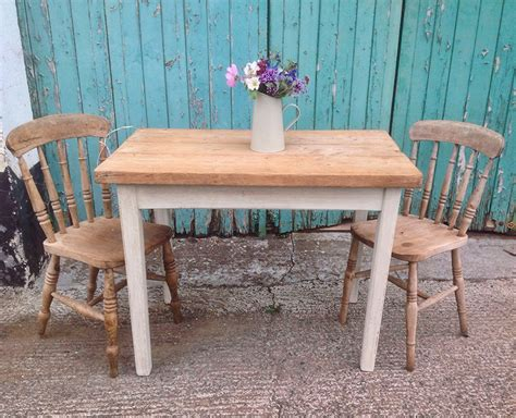Small Pine Dining Table Rustic Country Pine And Painted Furnitu And Popular Of Small Pine Dining Table Country Tabl
