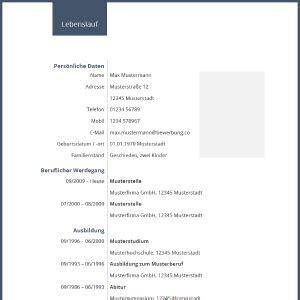 Word Lebenslauf Vorlage Kostenlos Runterladen tabellarischer lebenslauf 114 muster vorlagen als