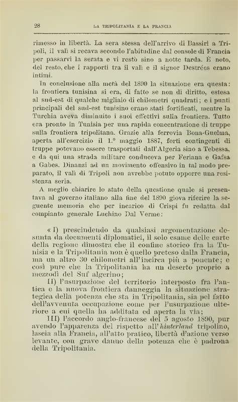 consolato generale d italia a tripoli francesco crispi questioni internazionali 1913