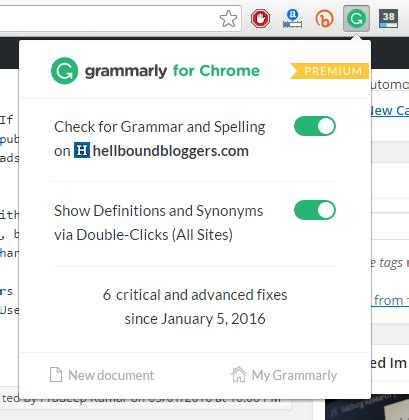 chrome grammarly grammarly works great in correcting spelling mistakes