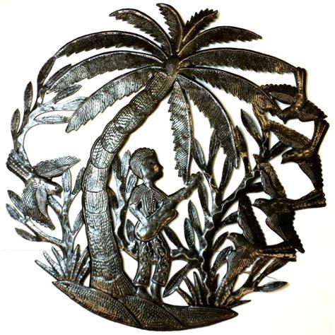 metal palm tree l handmade haitian metal guitar player a palm