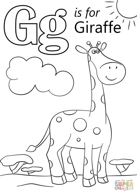 coloring pages of letter g letter g giraffe coloring page coloring page art