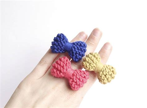 knitting ring knitted bow ring by notonthehighstreet
