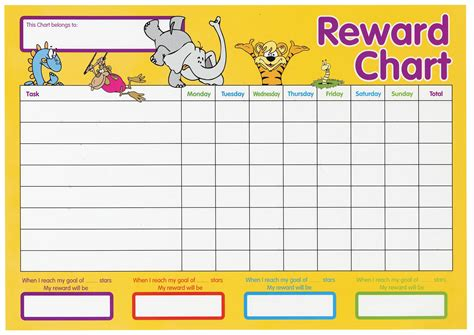 printable animal reward charts motivate your child to perform better with these reward