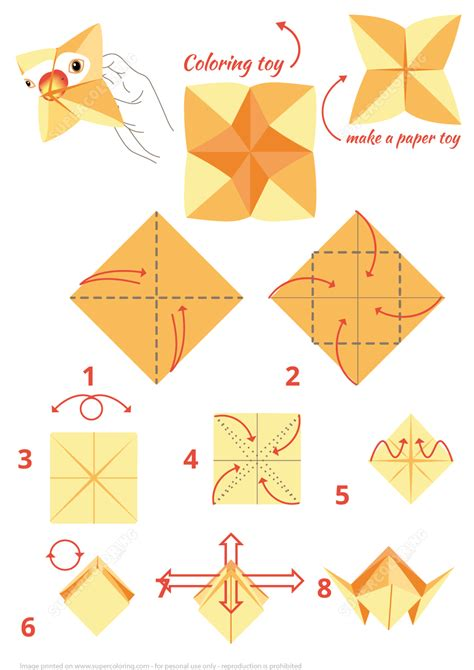 Paper Folding Toys - origami parrot free printable papercraft