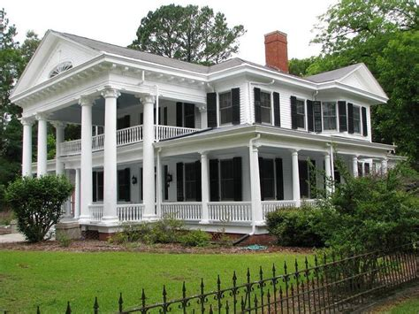 Southern Plantation Home Plans early classic revival gable front and wings pictures to